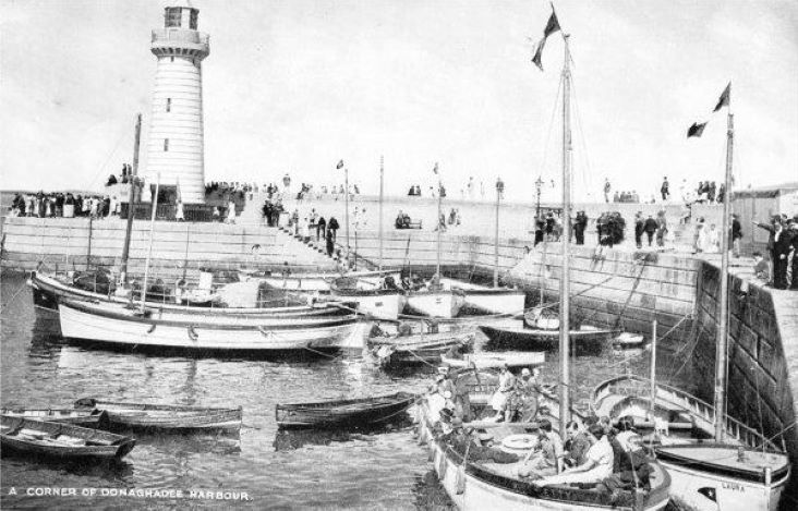 A busy Donaghadee harbour