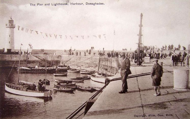 1930's Donaghadee harbour and lighthouse