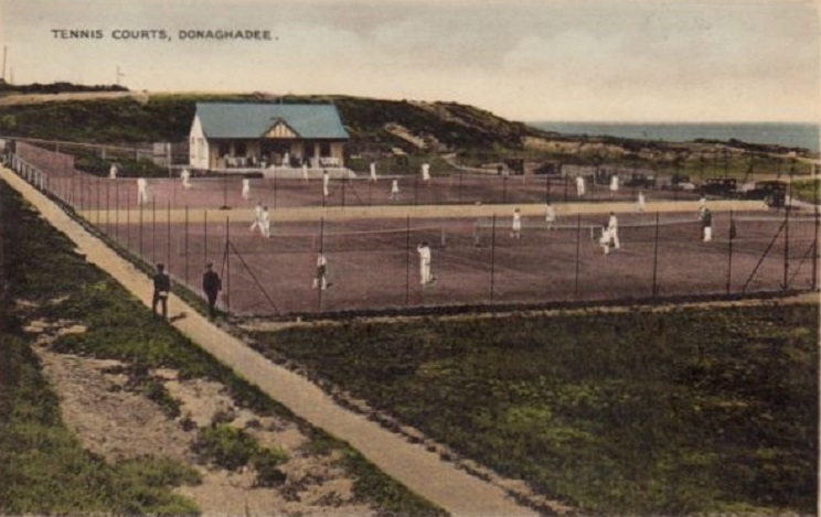 View of Donaghadee tennis courts 1930s